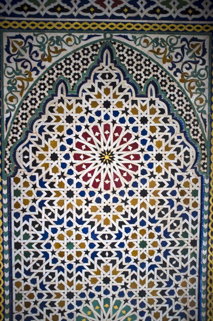 Traumhaftes Mosaik im Kasbah Telouet - Der blaue Palast des letzten Paschas.