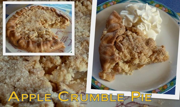 apple crumble pie  Torta di mele croccante