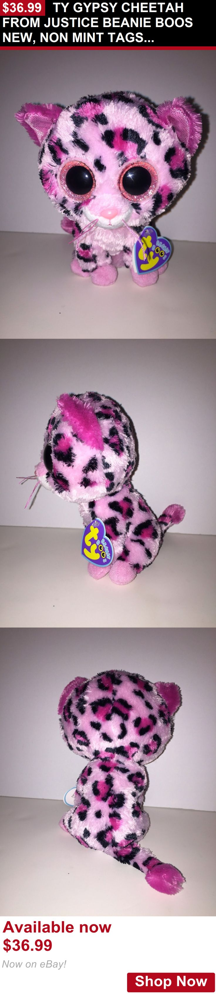 Binocular Cases And Accessories: Ty Gypsy Cheetah From Justice Beanie Boos New, Non Mint Tags,Hard To Find*Cute BUY IT NOW ONLY: $36.99