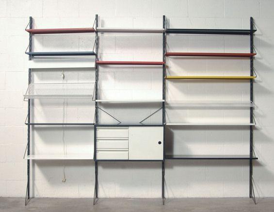 Pilastro Multi-Colored Industrial Wall Unit