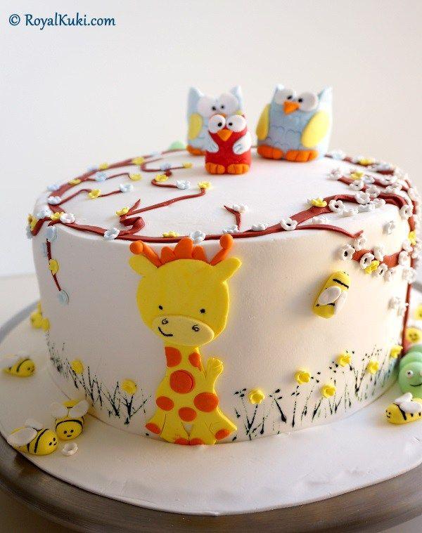 Birinci yaş günü pastası, Şeker Hamuru ile Süsleme