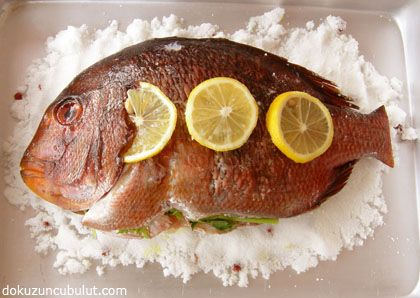 Salted red sea bream