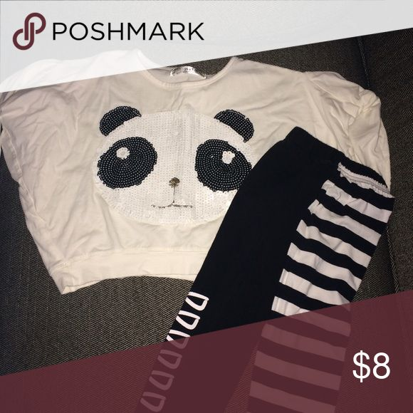 4t Panda Outfit 4t Panda Outfit EUC very cute outfit Matching Sets