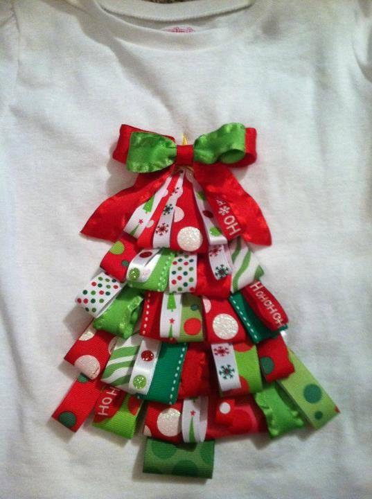 Christmas tree ribbon shirt by shellie181 on etsy 23 00