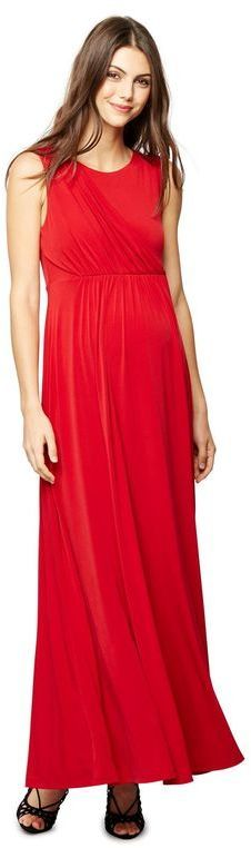 Draped Maternity Gown. Long airy dress for those months when you're expecting. This dress would be perfect for when you want to have a nice date night out with your man or friends! #affiliate