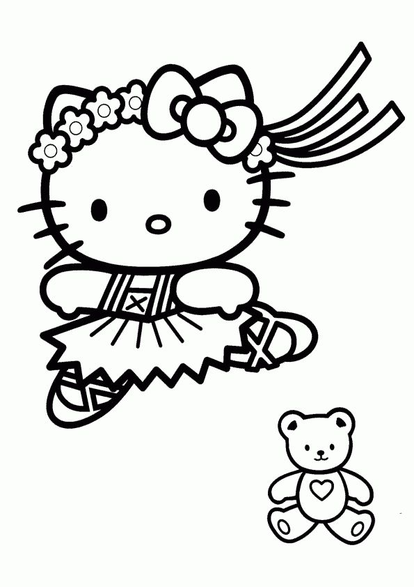 15 best Hello Kitty images on Pinterest | Coloring sheets, Coloring ...