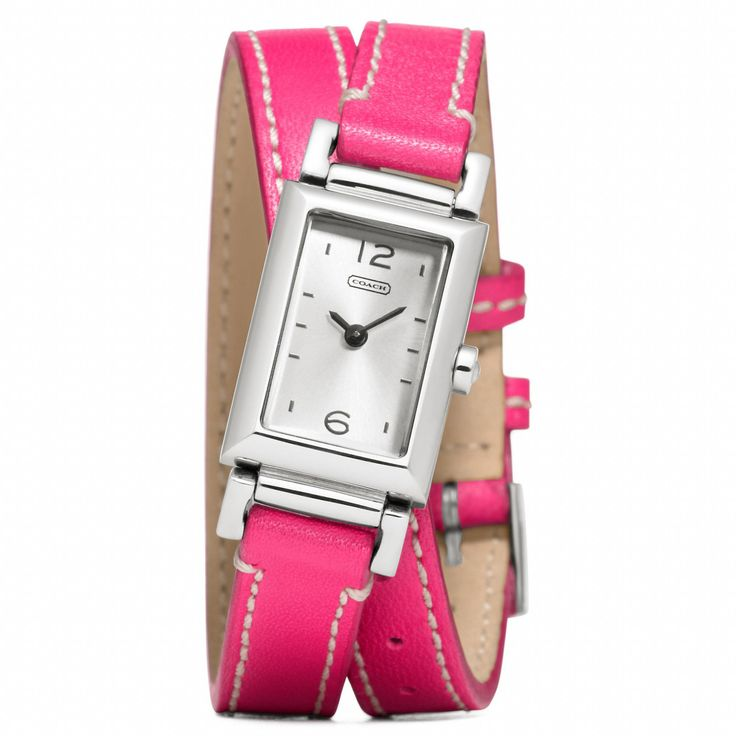 Madison Stainless Steel Wrap Watch in Fuchsia from Coach #CoachNewYorkMinute