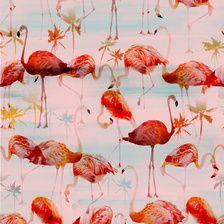 551 Flamingos Print