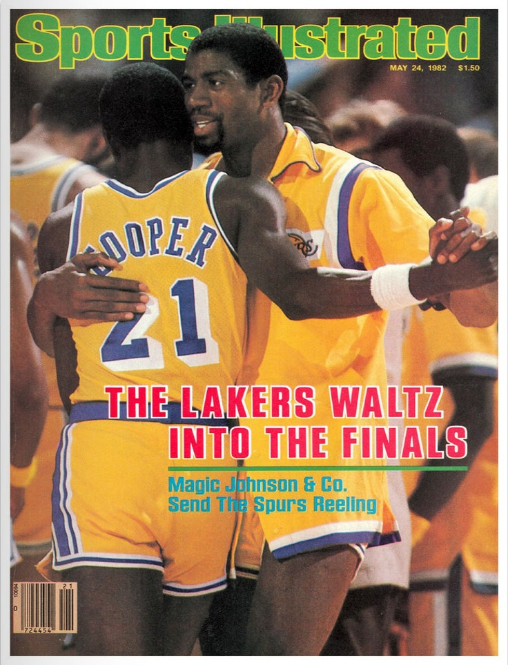 May 15, 1982 - The Los Angeles Lakers moved into the NBA Finals by beating San Antonio 128-123 in Game 4 of the Western Conference Finals. It was the Lakers' eighth straight victory, making them the first team in NBA Playoff history to sweep back-to-back best-of-7 series.