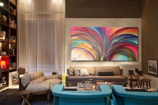 Quadro Grande Sala De Estar ~  Para Sala no Pinterest  Salas, Sala de estar e Textura em parede
