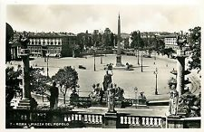 Italy 1930s Real Photo Postcard Roma Rome - Piazza del Popolo