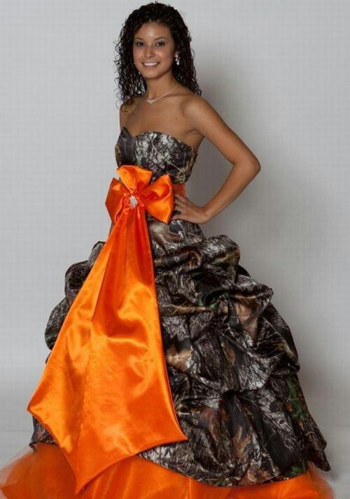 Orange camo dress clothes outfits tank tops dresses for Orange and camo wedding dress