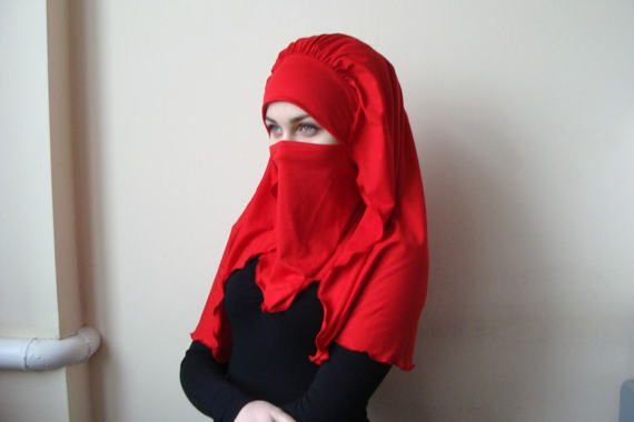10% OFF Transformer voluminous red barbe hijab niqab