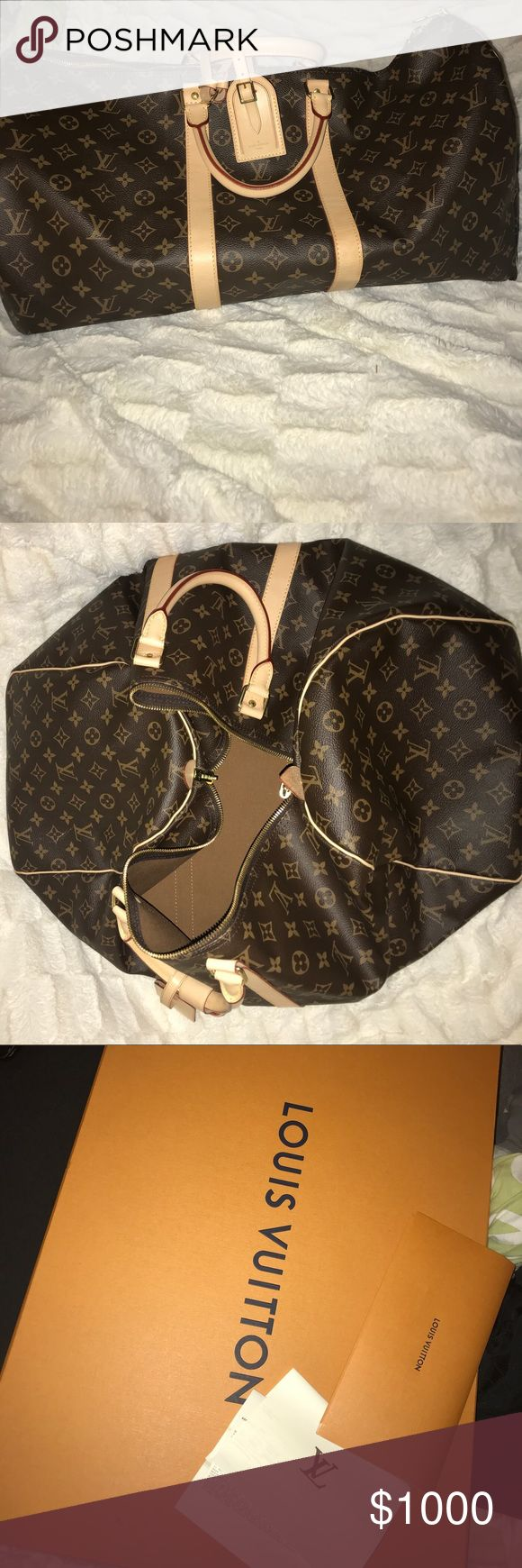 Louis Vuitton Keepall 55 Authentic Louis Vuitton Keepall 55. I purchased in February of 2017 and only used this bag about 5 times- in pristine condition! Meets TSA carry on requirements.  Have original box and care instructions available. Negotiable price, great buy :) Louis Vuitton Bags Travel Bags