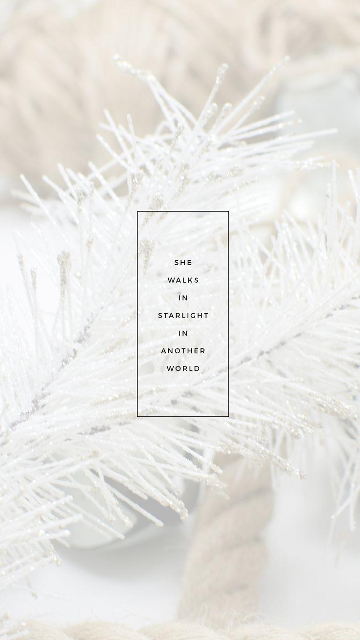 "kaespo — lockscreens no. 110 - ""She walks in starlight in..."
