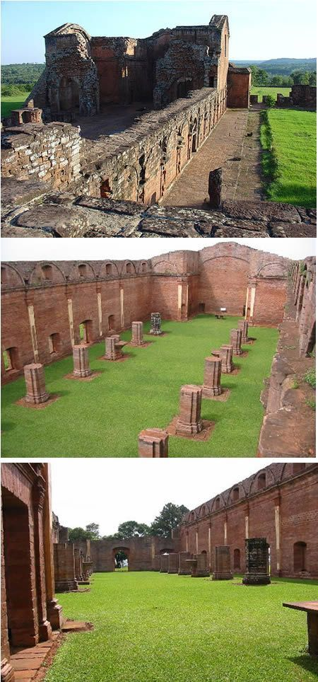 Jesuitical Ruins of Trinidad (Paraguay) Located about 25 km away from Encarnacion, on the route to Ciudad del Este, Paraguay, is one of the most interesting and suggestive ruins of the 8 missions in Paraguay.  #MediumMaria