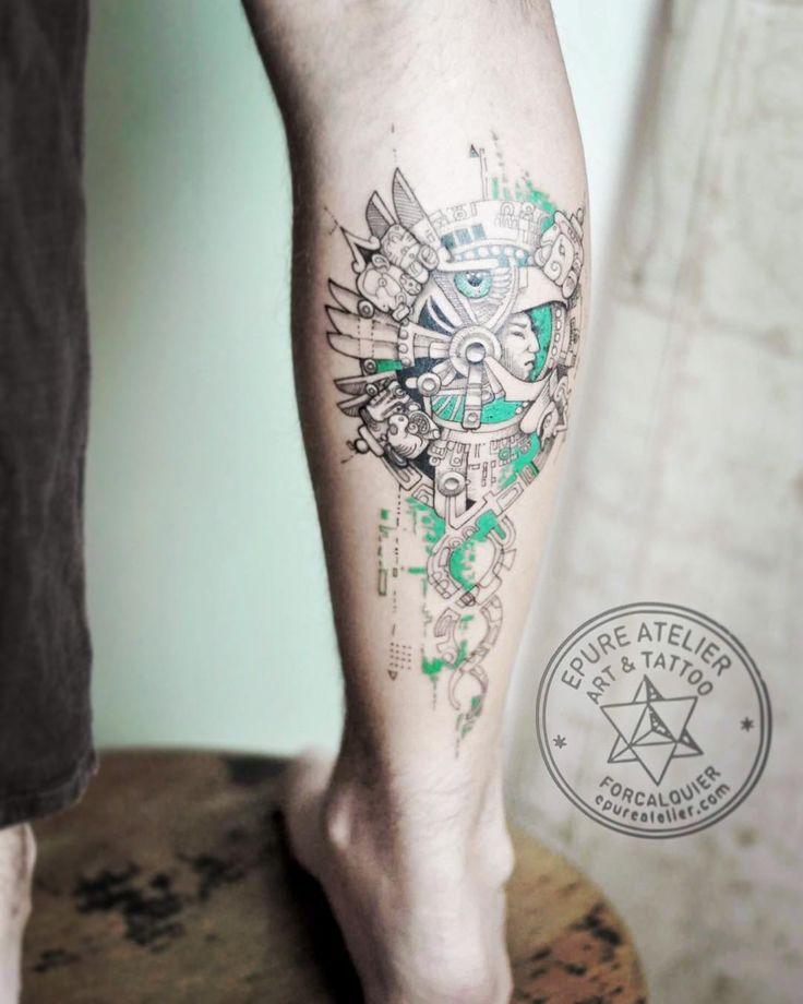 #aztec #glyphs #epureatelier #marieroura #tattooartist #tattoo