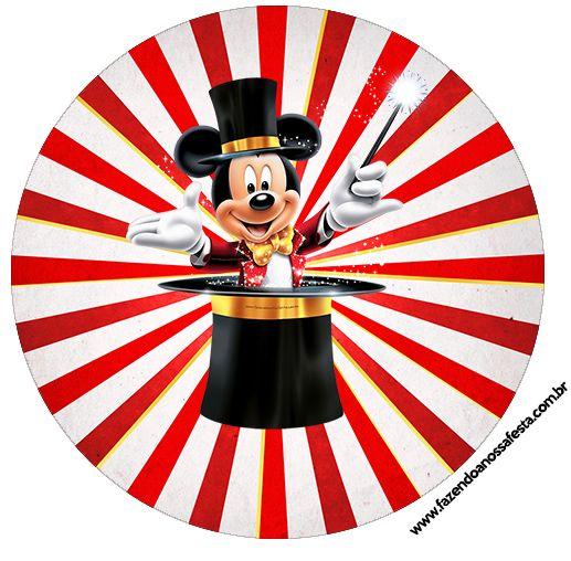 Tubete e topper Kit Festa Mickey Circo