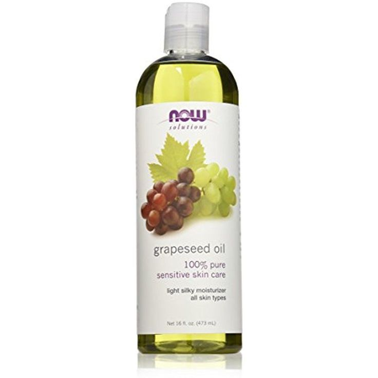 NOW Grape Seed Oil Natural Moisturizer Sensitive Skin Base on Lotion Hair 16-Oz #NOWFoods