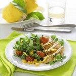 Insalata di pollo al limone e basilico