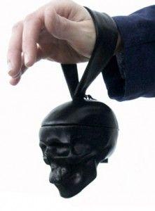 Natalia Brilli skull evening bag