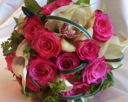 Roses Orchids and Cala Lilies bouquet Chanan's Floral Events