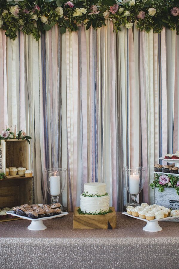 Pretty ribbon backdrop: http://www.stylemepretty.com/vault/gallery/39216 | Photography: Ameris - http://www.ameris.ca/
