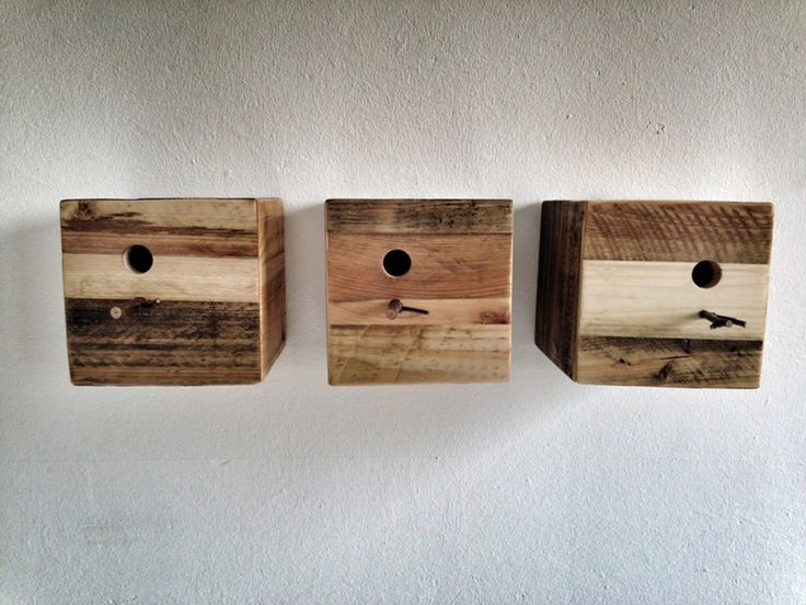 Bird houses from old pallets ~ Reclaimed Wood  Furniture by Sascha Aakkermann