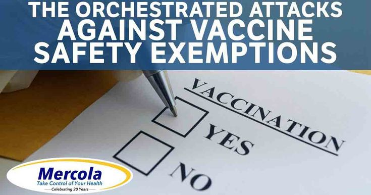 Update on the Orchestrated Attacks to Eliminate Vaccine Safety Exemptions--While Americans have faced more than 180 legislative attempts to eliminate vaccine exemptions, all but one have been successfully defeated. https://articles.mercola.com/sites/articles/archive/2017/11/05/attempts-to-eliminate-vaccine-exemptions.aspx?utm_source=wnl&utm_medium=email&utm_content=art5&utm_campaign=20171116Z1_UCM&et_cid=DM165974&et_rid=119734797