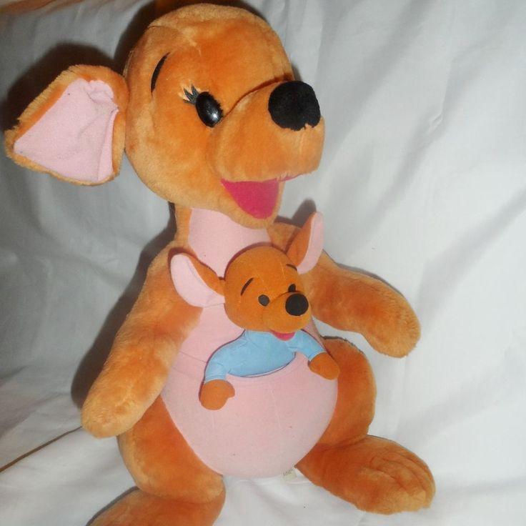 "Kanga & Roo Mattel 21"" Winnie the Pooh Kangaroos Plush Stuffed ..."