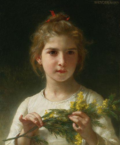 William Adolphe Bouguereau 'Mimosa' (the Mimosa flower) 1899