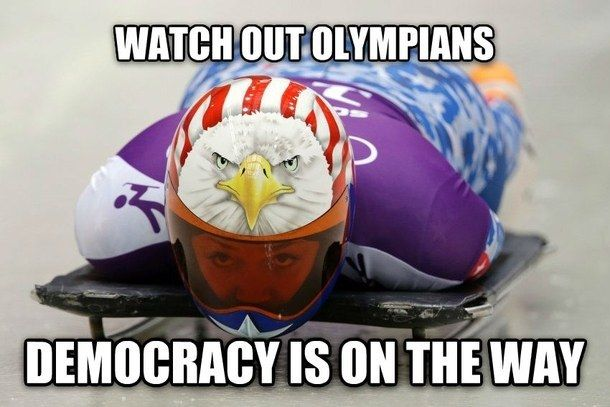 And she gets a gold medal. | 21 'Murica Memes To Keep Your Patriotism Flowing