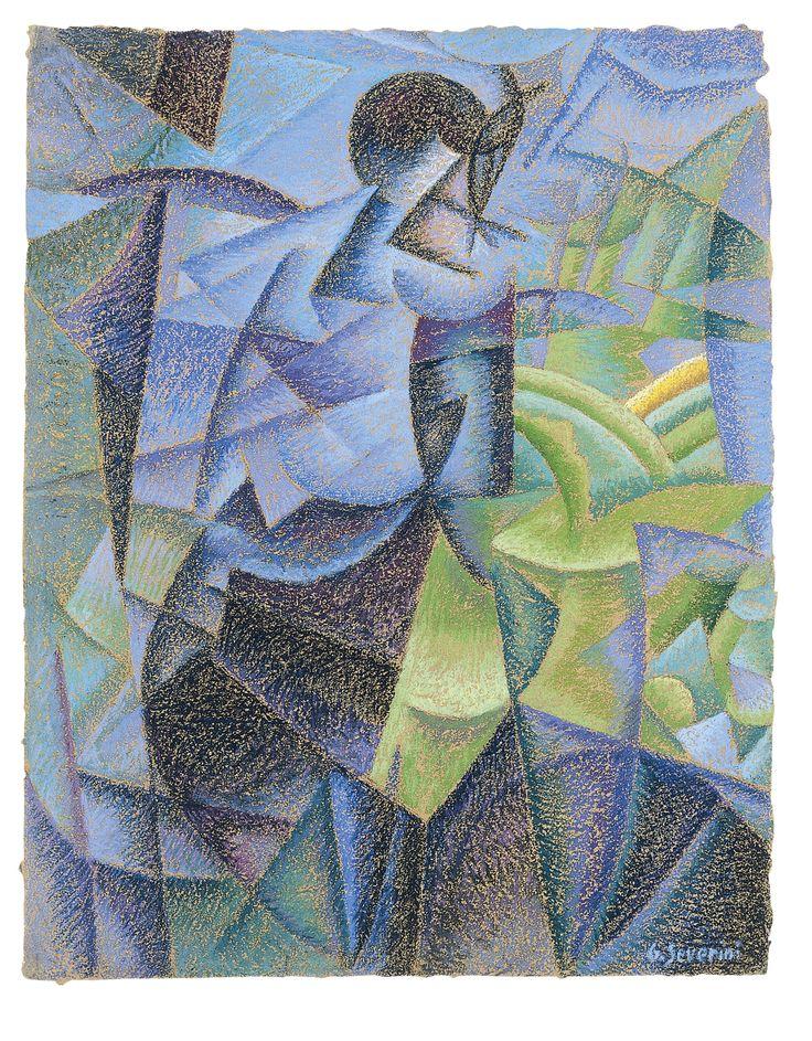 Futurismo. Gino Severini: Mujer en la ventana ( 1914).Al pintar a una persona en un balcón, vista desde dentro del cuarto —escribía Boccioni , que en 1911 había pintado este mismo tema en Visiones simultáneas —, no limitamos la escena a lo que el marco de la ventana hace visible, sino que tratamos de representar la suma total de las sensaciones visuales experimentadas por esa persona» .