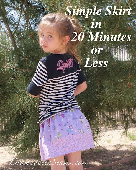 Simple Skirt in 20 minutes or less