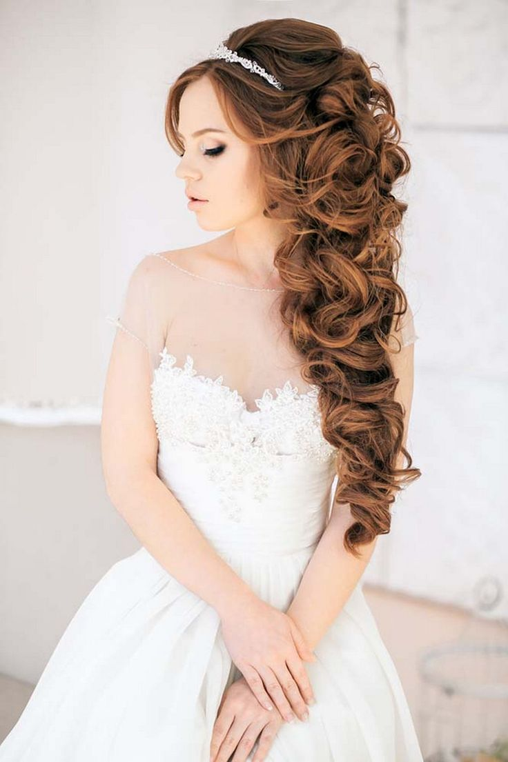 Curly Hair Down Wedding - 80 most romantic and gorgeous half up half down wedding hairstyles