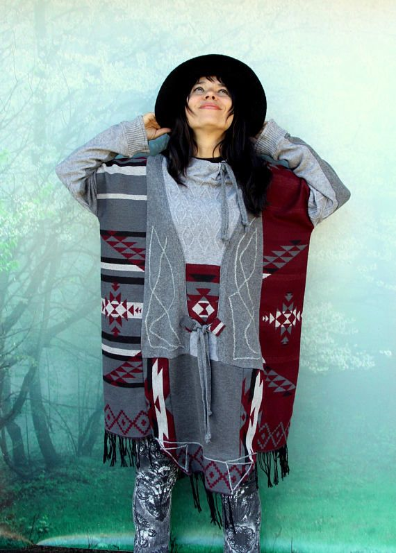 Vrije ruimte etnische stijl lappendeken trui poncho