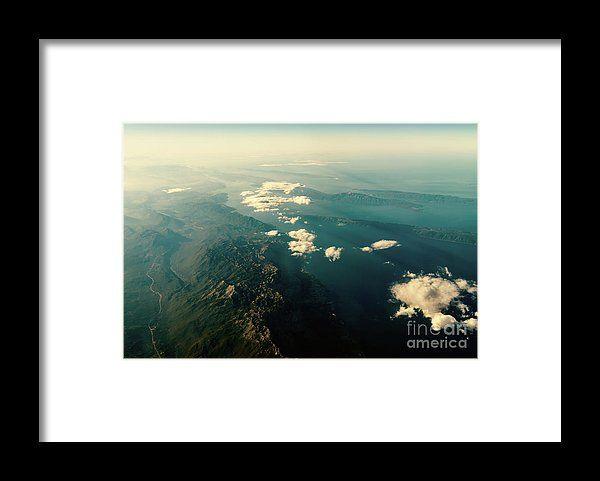 Earth Horizon Photo From 35.000 Feet Altitude Framed Print