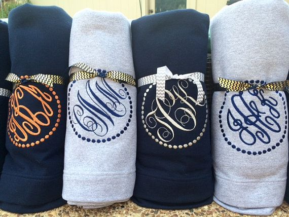 This personalized stadium blanket is the perfect accessory to bring to a game, decorate a room, give as a gift! These are SO comfortable. Just
