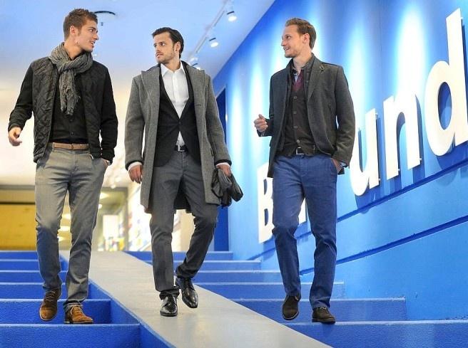 Roman Neustädter, Tranquillo Barnetta and Benedikt Höwedes catwalking