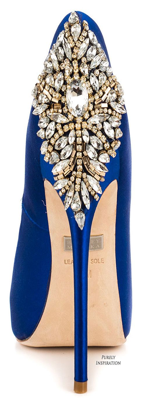 Badgley Mischka Kiara sapphire satin | Purely Inspiration