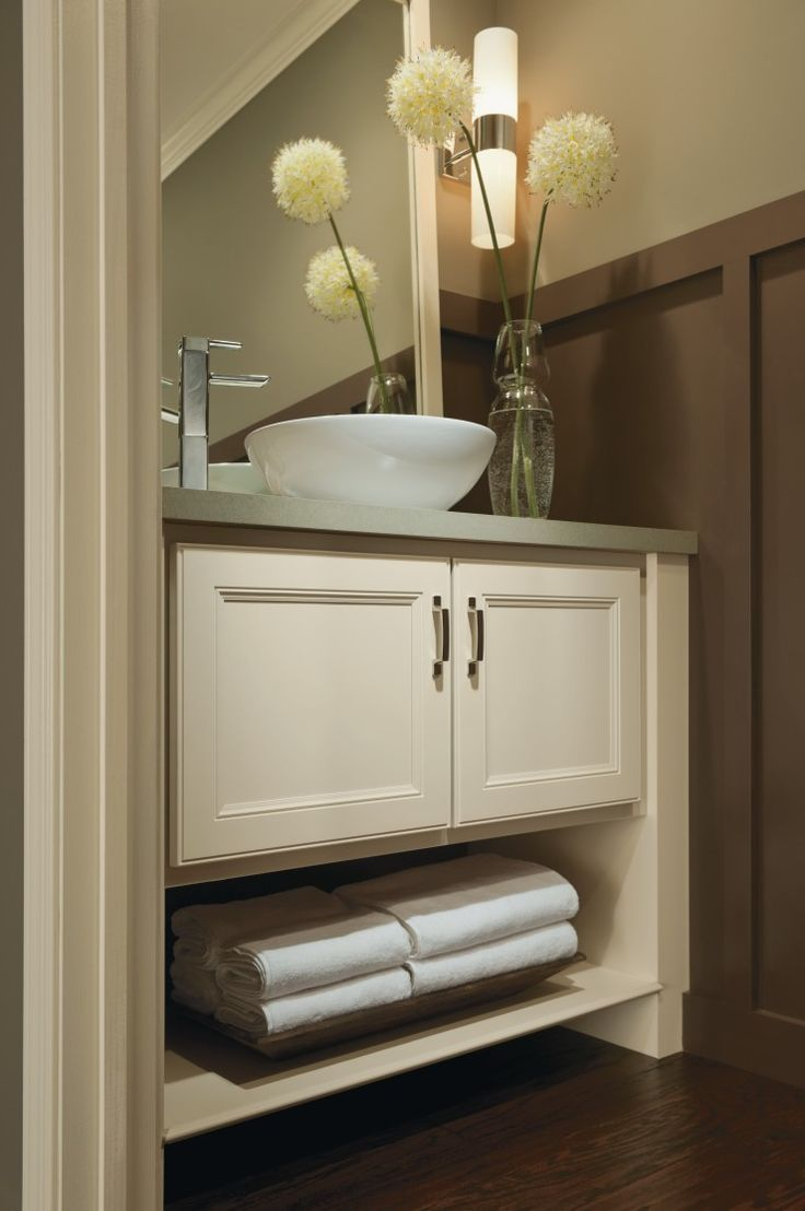 todayu0027s master bathrooms feature base cabinets with like this one from aristokraft