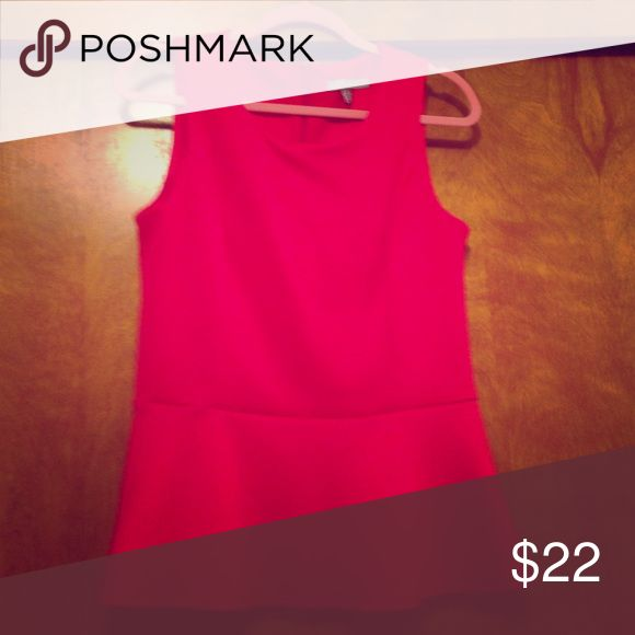 Pink peplum top Cute pink peplum top. Size M. Never worn, washed once. Tops