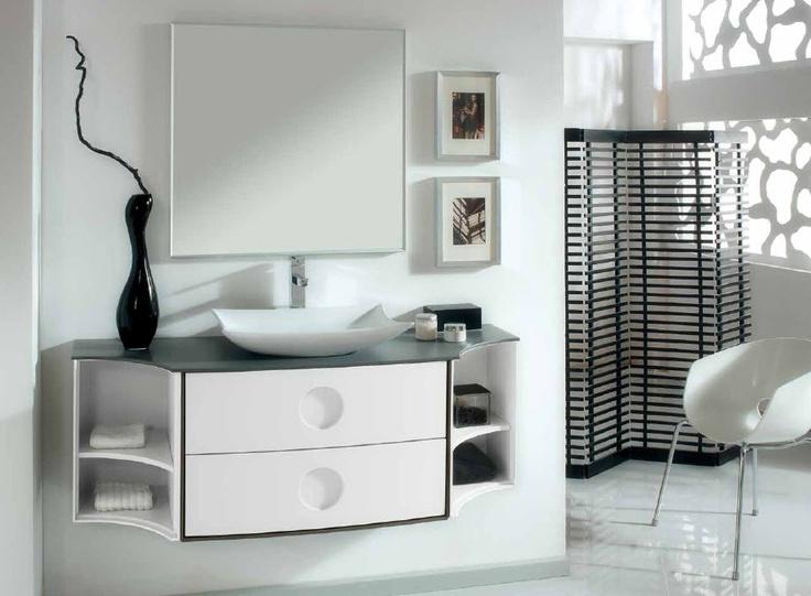 mejores 23 imágenes de baños con encanto propio en pinterest ... - Muebles De Bano De Aluminio