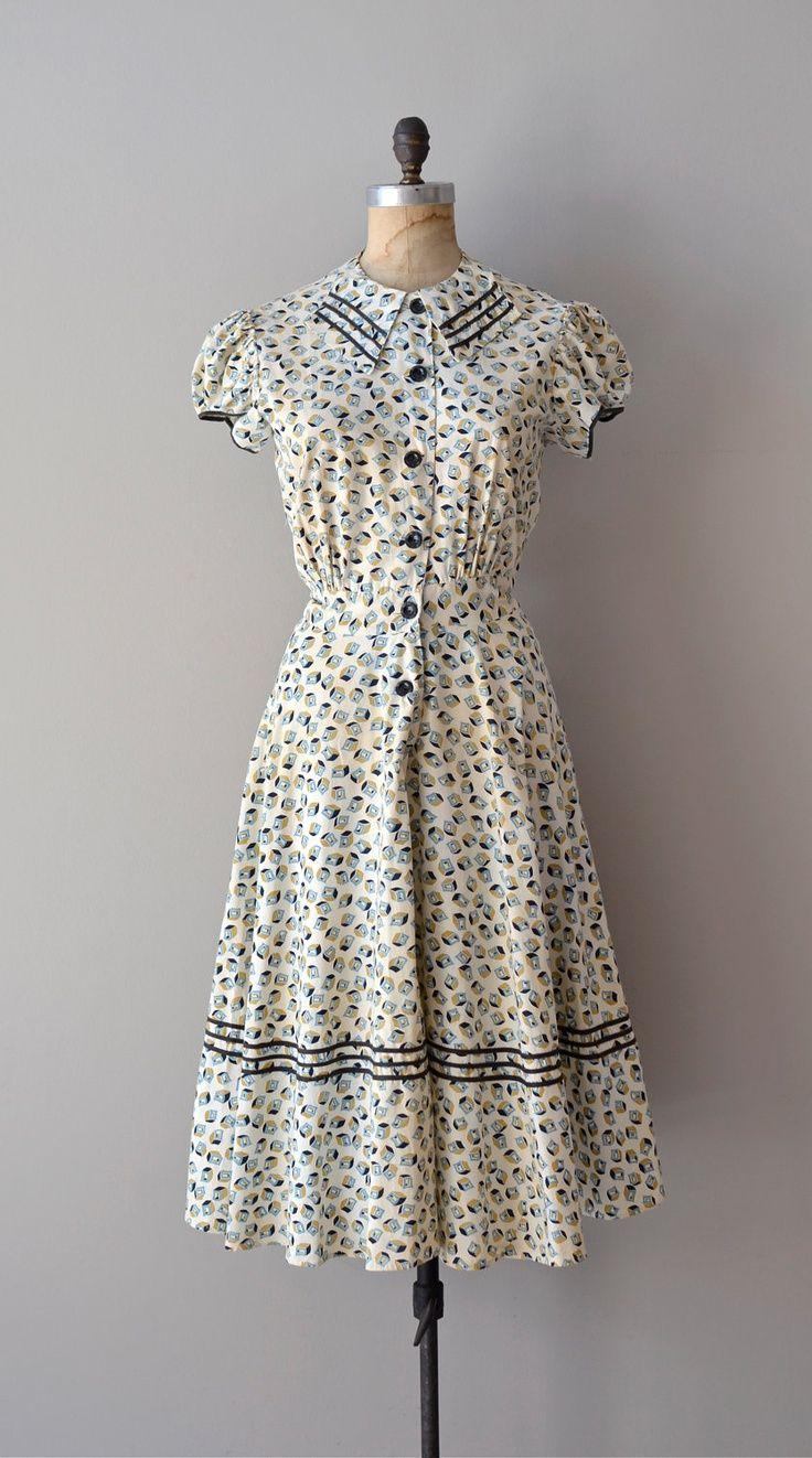 1930s dress / vintage 30s dress / Unicode dress. $178.00, via Etsy.