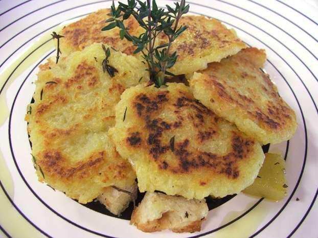 Polpette di pane e patate. The potato pancakes we still make today from the old Italian recipe... .