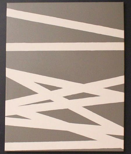 Tape and Paint - DIY Canvas Art with Spray Paint,