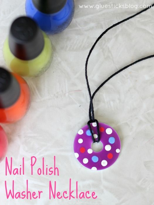 Nail Polish Washer Necklaces