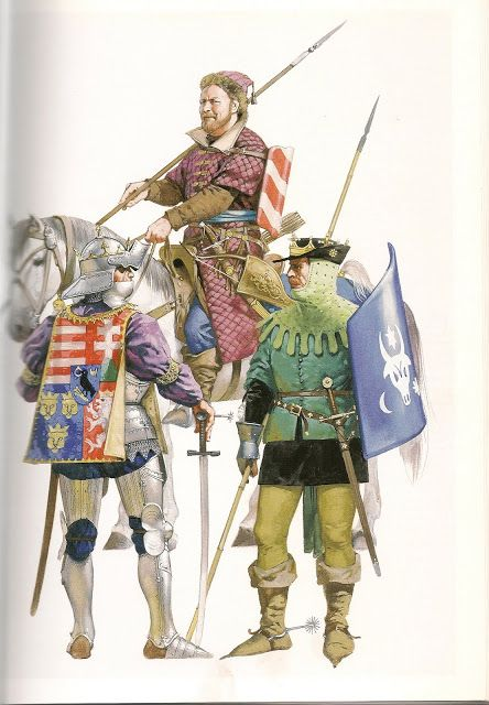 Cavalry from the Balkans. These ligh cavalrymen, Stradiots, were employed by many of the Italian states and were used by the French, who took them to France for employ against the English.