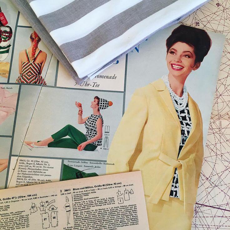 A very cute summer blouse in the making! I'm using vintage cotton/linen blend and a vintage pattern (30613, Beyer Moden 6/1963). PL: A u mnie nadal letnie rzeczy się szyją. Tym razem bluzka na podstawie wykroju z Beyer Moden 6/1963. Materiał to równie stara bawełna z lnem. #sewing #vintagesewing #vintagefashion #vintagepattern #fashion #cute #blouse #ruffles #summer #cotton #linen #instasew #1960s #handmade #szycie #wroclawszyje #bawełna #len #lato #modaretro #lata60 #diy #BeyerModen