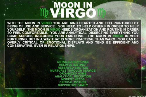 Moon in Virgo personality.